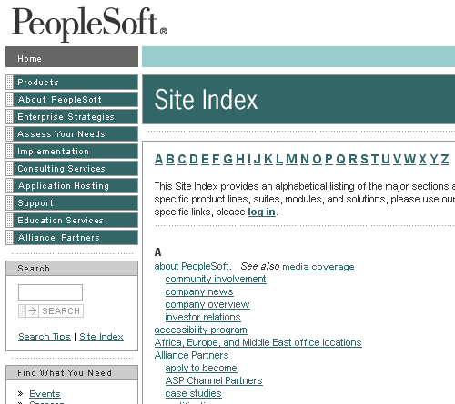 Site Index - Interaction Design Pattern Library - Welie com